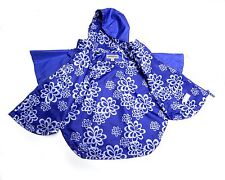 LONDON FOG Girls Hooded RAINCOAT CAPE Size M5/6 Full Zip Purple  NWT NEW