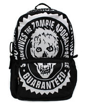 Hot Punk Gathic Disign Print School Backpack Zombie Apocalypse