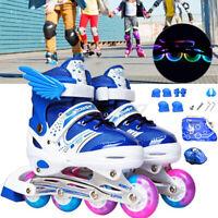 Mädchen Kinder LED Inliner verstellbar Inline Skates für Jungen Rollschuh Rosa