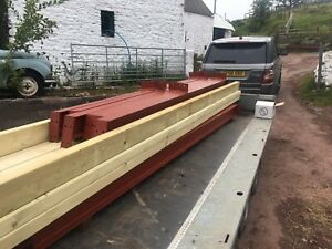 30x20 workshop steel frame building and roof timbers