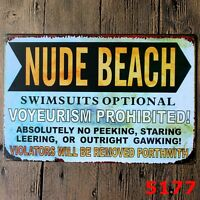 Metal Tin Sign beach  Decor Bar Pub Home Vintage Retro Poster Cafe ART