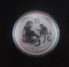 2016 1oz .999 Fine Silver Australian Lunar Monkey Lion Privy -low 30,000 Mintage
