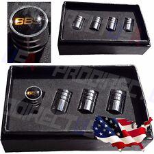 BBS Rims Logo Valves Stems Caps Covers Chromed Wheel Roundel Car Tire Emblem USA
