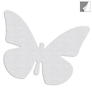 Reflektor Aufkleber Schmetterling, reflektierender Sticker