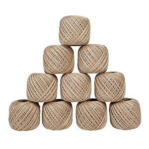 Cotton Crochet Thread Mercerized Yarn Embroidery Thread Lot Of 10 Ball, 20G Each