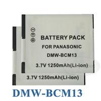 2 Pcs New Battery Pack DMW-BCM13E For Panasonic DMC-ZS30GK TZ40 TZ41 TS5 ZS27
