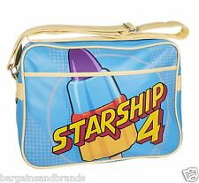 I muri Retrò ™ Rocket Lolly 🚀 ASTRONAVE Messenger Bag Scuola Palestra UNI SPORT 👍
