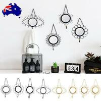 Wall Hanging Mirror Wrought Iron Hook Baby Kid's Room Ornament Home Decor AU!