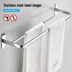 Doppel Handtuchhalter Wandhandtuchhalter Handtuch Badregal Badstange Ohne Bohren