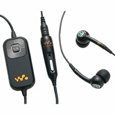 Genuine Sony Ericsson HPM-82 Stereo Headset With Remote (Black/Orange)