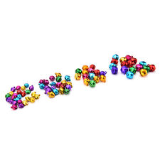 100 Pcs/Set Small Jingle Bells Colorful Loose Beads Decoration Pendant Craft UK