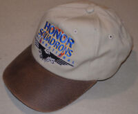 HONOR SQUADRON INTERNATIONAL EMBROIDERED HAT! LEATHER LOOK VISOR! LEGEND! USA!
