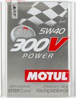 2 Litri Olio Motore Motul 300V Power 5W40 Motorsport 100% sintetico Ester Core