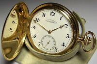 A. Lange & Söhne Glashütte Dresden 14K 585 Gold Taschenuhr TU ca.1925