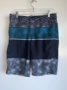 MICROS Boys Blue and Black Hybrid Shorts Size 18