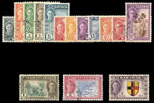 Sarawak 1950 KGVI Pictorial set complete very fine used. SG 171-185. Sc 180-194.