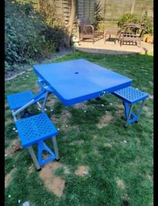 Outdoor Portable Folding Fold Up Picnic Table Camping BBQ Party Table & Chairs.