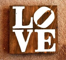 Handmade Reclaimed Wooden Pallet Sign Love Words Theme Hand Painted Craft