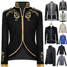Mens British Style Palace Medieval Coat Jacket Retro Wedding Groom Cosplay Coat