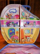 Littlest Pet Shop Lps Vinyl Zipper Case & 8 Pets Cats Mice Snail Gecko Panda