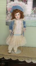 "GORGEOUS TETE JUMEAU ANTIQUE FRENCH REPRODUCTION DOLL 32"" TALL"