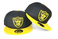 newest collection 6231a efbf0 New Era NFL Black   Yellow Oakland Raiders Shield Logo 9Fifty Snapback Hat