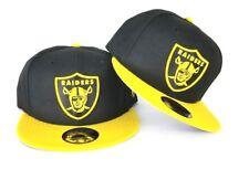 New Era NFL Black / Yellow Oakland Raiders Shield Logo 9Fifty Snapback Hat