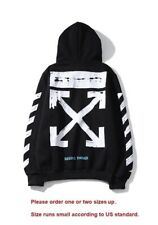 Off White Hoodie Hip-hop OFF!-White Classic retro Seeing things outwear Black