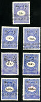 Denmark Stamps VF Used Lot of 7 Revenues
