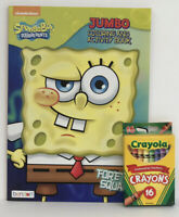 Sponge Bob Square Pants Jumbo Coloring & Activity Book + 16 Crayons Kids Book