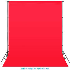Neewer 6 x 9 ft/1.8 x 2.8M Studio Muslin Collapsible Backdrop Red Background