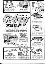 1966 Dealer Print Ad Cobey Farm Line Forage Bunk Feeder Spreader Wagon Galion,OH