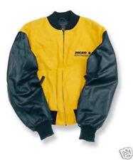 DUCATI Performance Bomber Jacke Bomberjacke Leder Jacket gelb SCRAMBLER NEU !!