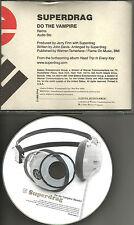 SUPERDRAG Do the Vampire w/ RARE REMIX & AUDIO BIO PROMO radio DJ CD single 1998