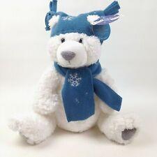 "FIRST & MAIN Klondike Polar Bear Teddy Plush Sitting Position 11"" Christmas"