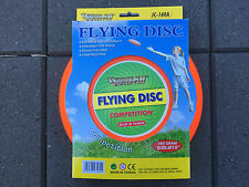 """OUTDOOR PLAY Quality 160g 10"""" Flying Disc Frisbee Competition Family Fun Orange"""