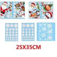 Christmas Art Wall Stickers Snowflakes Wall Decal Xmas Home Window Decor New