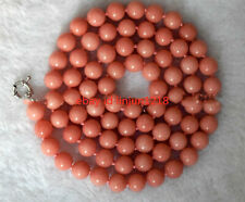 New Natural 8mm 10mm Pink Morganit Round Beads Gemstone Necklace Long 36''