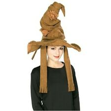 NEW Harry Potter Sorting Hat Rubies Brown Wide Brim costume decor accessory