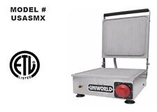"New 10""x10"" Panini Grill Ribbed Plate Uniworld Usasmx New #4529 Commercial Etl"
