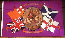 KING WILLIAM III / 5X3 FOOT OUTDOOR FLAG / EYELETS / ULSTER LOYALIST SOUVENIRS