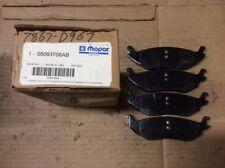New Factory OEM Mopar Disc Brake Pad Pads Rear 05093706AB