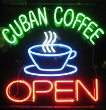 "New Cuban Coffee Open Bar Cub Artwork Neon Light Sign 20""x16"""