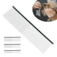 Pet Dog Cat Metal Double Row Teeth Brush Grooming Hair Comb Fur Rake Tool 3 Size