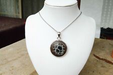 925 Sterling Silver Agate Pendant 925 Italy Chain 46cm