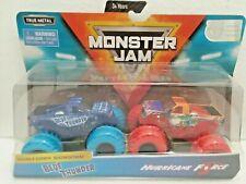 Blue Thunder & Hurricane Force (2019) Spin Master Monster Jam 1:64 Scale Trucks