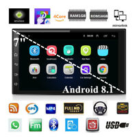 "Quad Core Android 8.1 7"" 2 DIN Car GPS Nav BT Stereo Radio FM Mirror Link OBD"