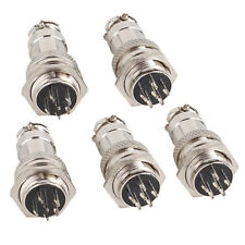 Aviation Plug Male Female Panel Power Chassis Metal Connector 16MM 6-Pin 2PCS