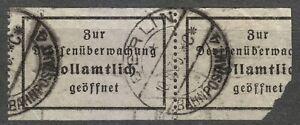 Germany Berlin Bahnpostamt 4 1935 Zollamtlich Geöffnet / Opened by customs stamp