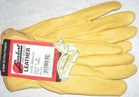 Lambert Tan Deerskin Leather Work/Drive Wrist Glove Unlined Unisex S/M US Made